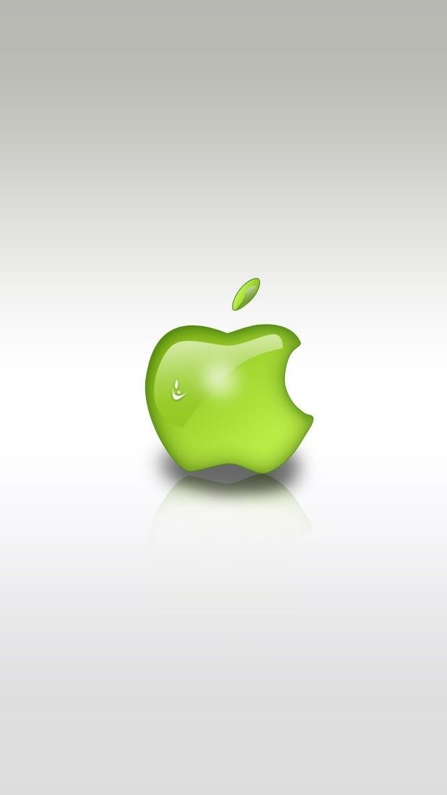 Green Apple Logo iPhone 5s Wallpaper http//www