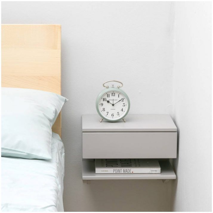 Floating Bedside Shelf Floating Night Stand Drawers White