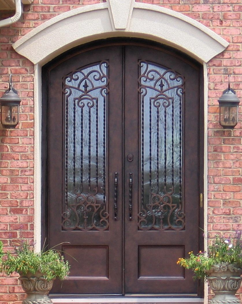 Ornate Iron Double Door Clark Hall Iron Doors Charlotte Nc Home