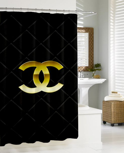 Coco Chanel Logo New Hot Shower Curtain Design Vintage Bathroom Gift Art