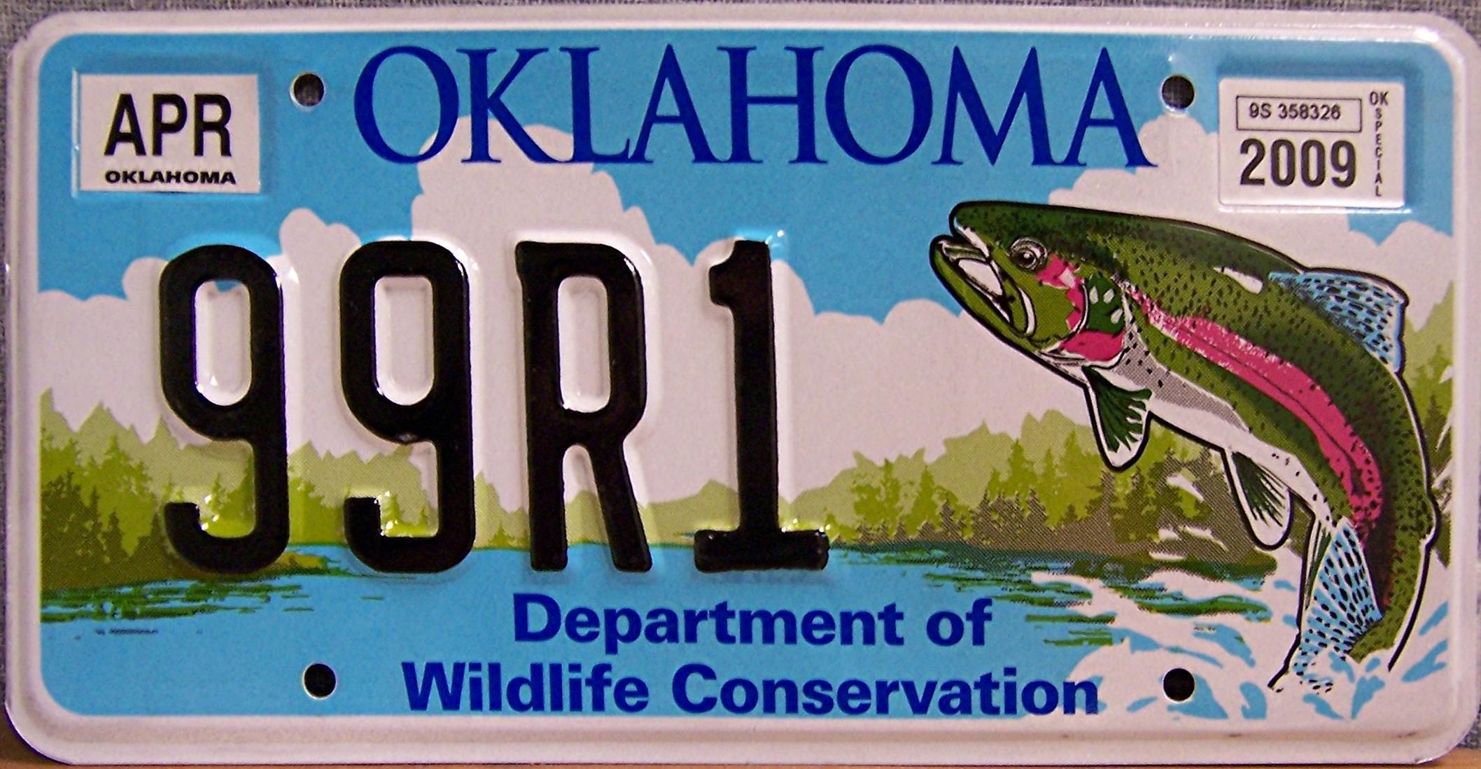 Oklahoma Department of Wildlife Conservation | Fishy License Plates