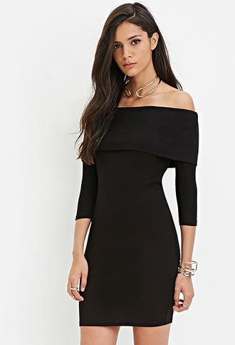 336b0568595 Off-the-Shoulder Sweater Dress | Forever 21 - 2000161780 | Dresses ...