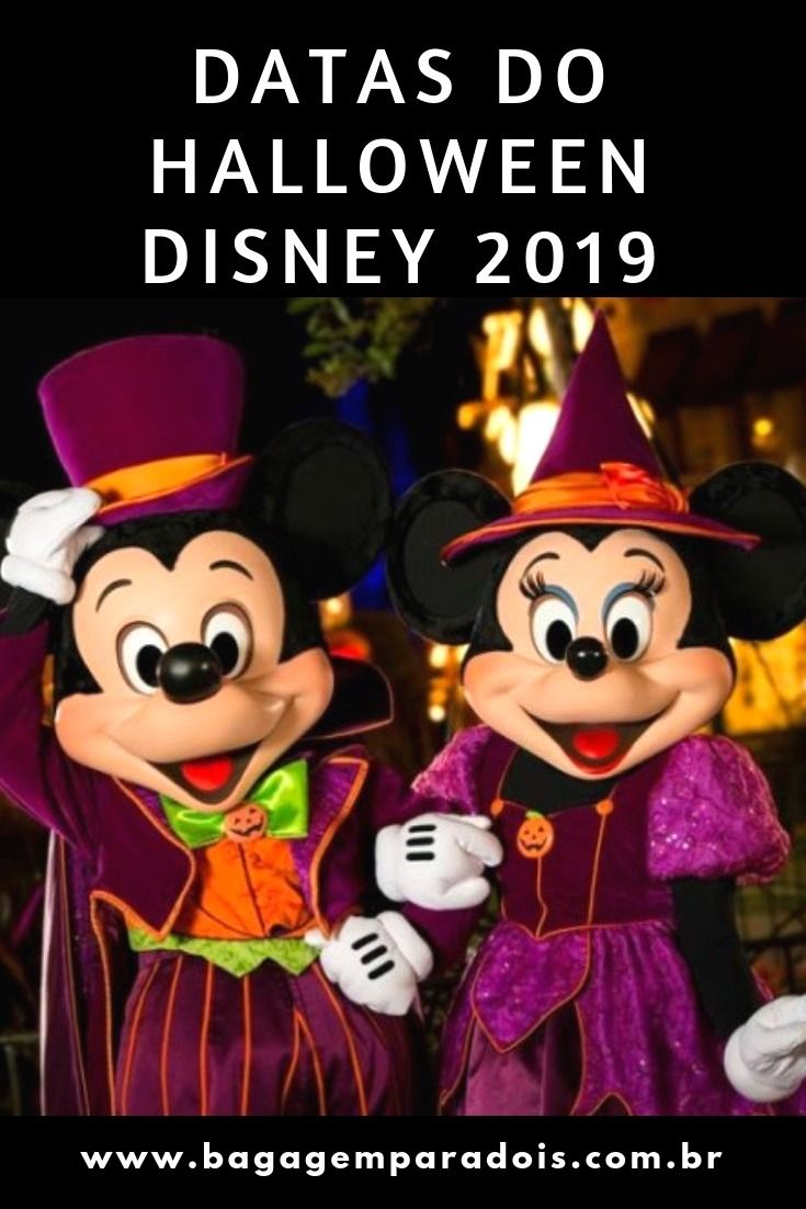 Datas Do Halloween Disney 2019 Walt Disney World Vacations