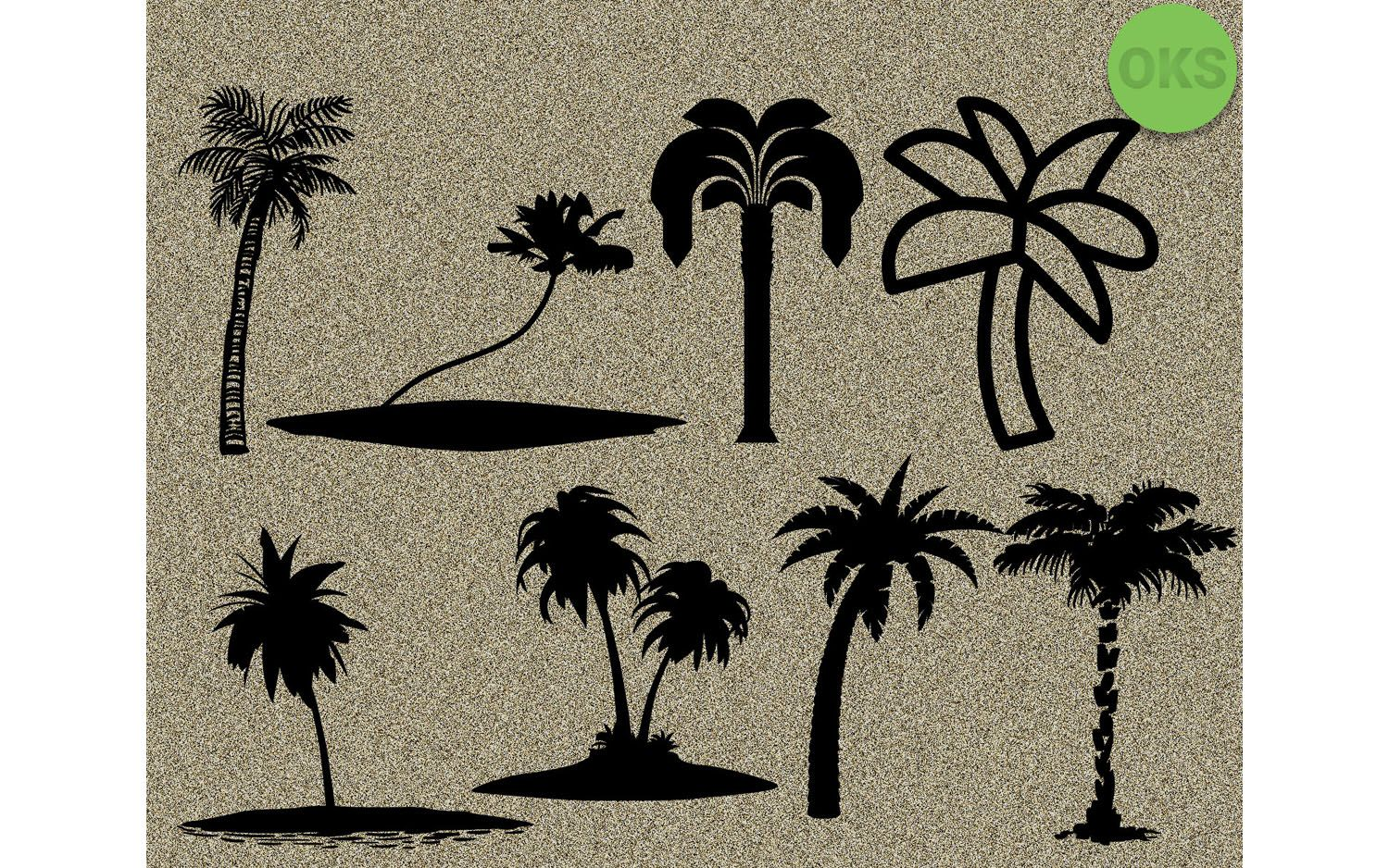 Palm Tree Svg Bundle Vector Cricut (Graphic) by CrafterOks