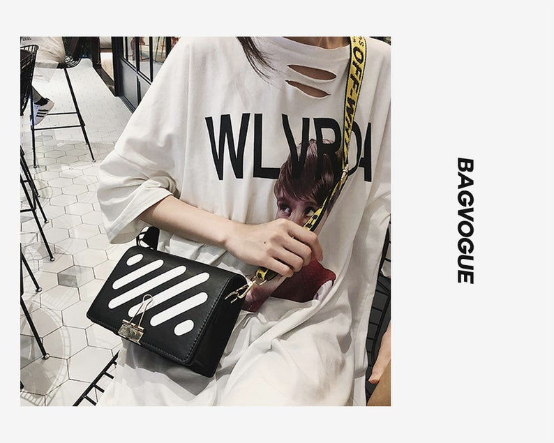 Off White Style Leather Crossbody Bag Offwhite Bag Offwhite Bag Black Offwhite Bag White Offwh Off White Bag Leather Handbags Crossbody Cross Body Handbags