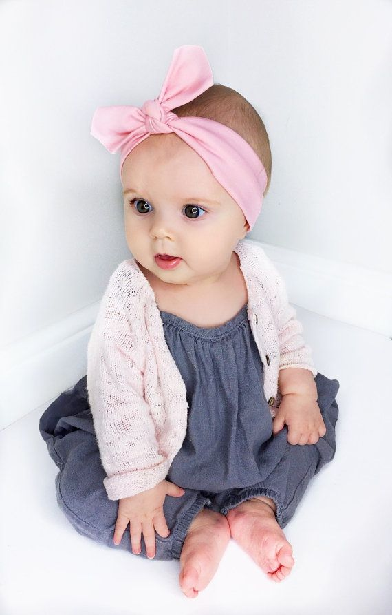 Pink Baby Headband   Baby Headband   Pastel Baby Headband   Baby Gift   Jersey  Headband   Baby Topknot   Infant Headband   Baby Accessories Baby Outfit of  ... a88b10952a0