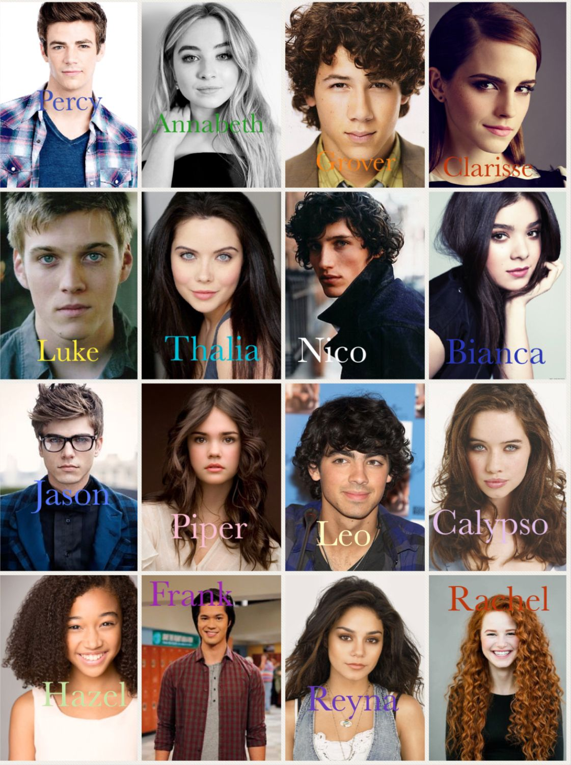 Percy Jackson Characters... love this cast, but I dont