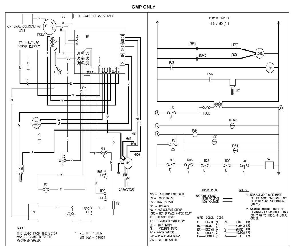 Help Installing New Circuit Board In Goodman Gmp 125 5 Furnace Electric Furnace Diagram Furnace