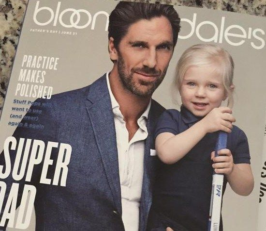 Henrik Lundqvist And Daughter On Cover Of Bloomingdale S Henrik