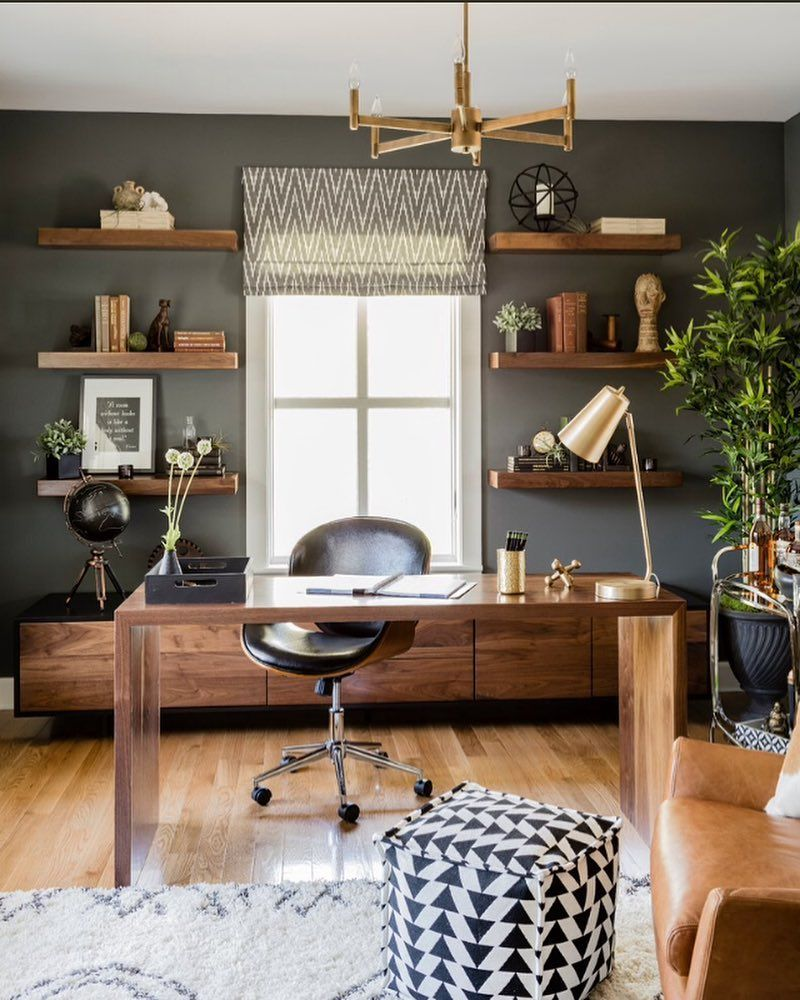 Looking For Cool Home Office Ideas For Men Perhaps You Ve Got A Small Space You D Lik In 2020 Contemporary Home Office Home Office Decor Coastal Living Room Furniture
