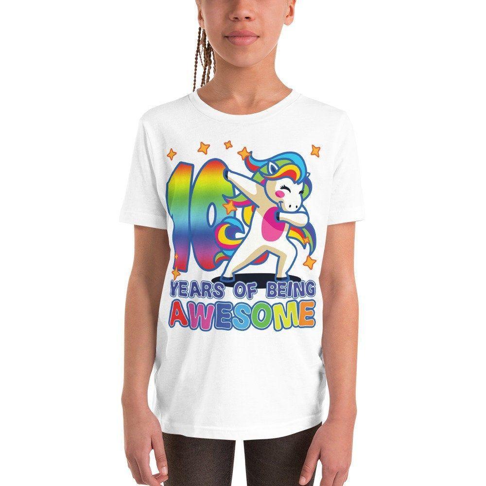 10th birthday premium tshirt unicorn shirt 10th