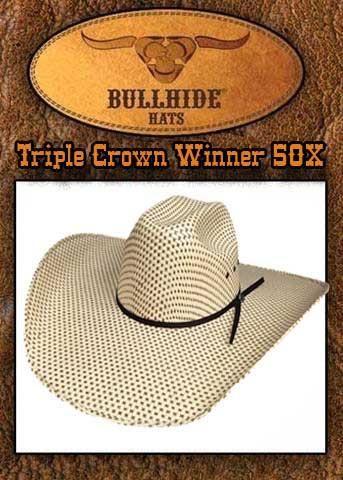 a5d4bf6a Montecarlo Bullhide Triple Crown Winner 50X Straw Cowboy Hat -2807BH ...