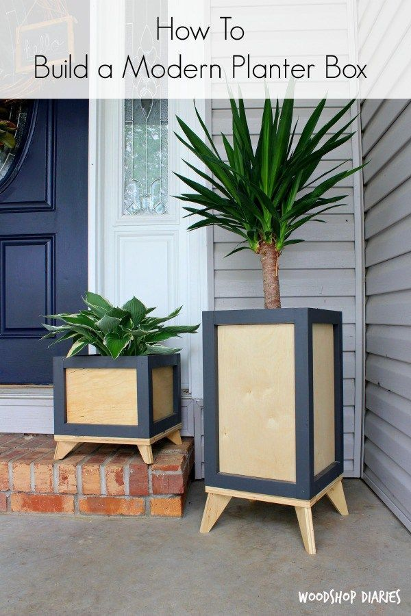 Want to add some modern flare your outside or even inside decor grab the free building plans build own diy planter  also rh pinterest