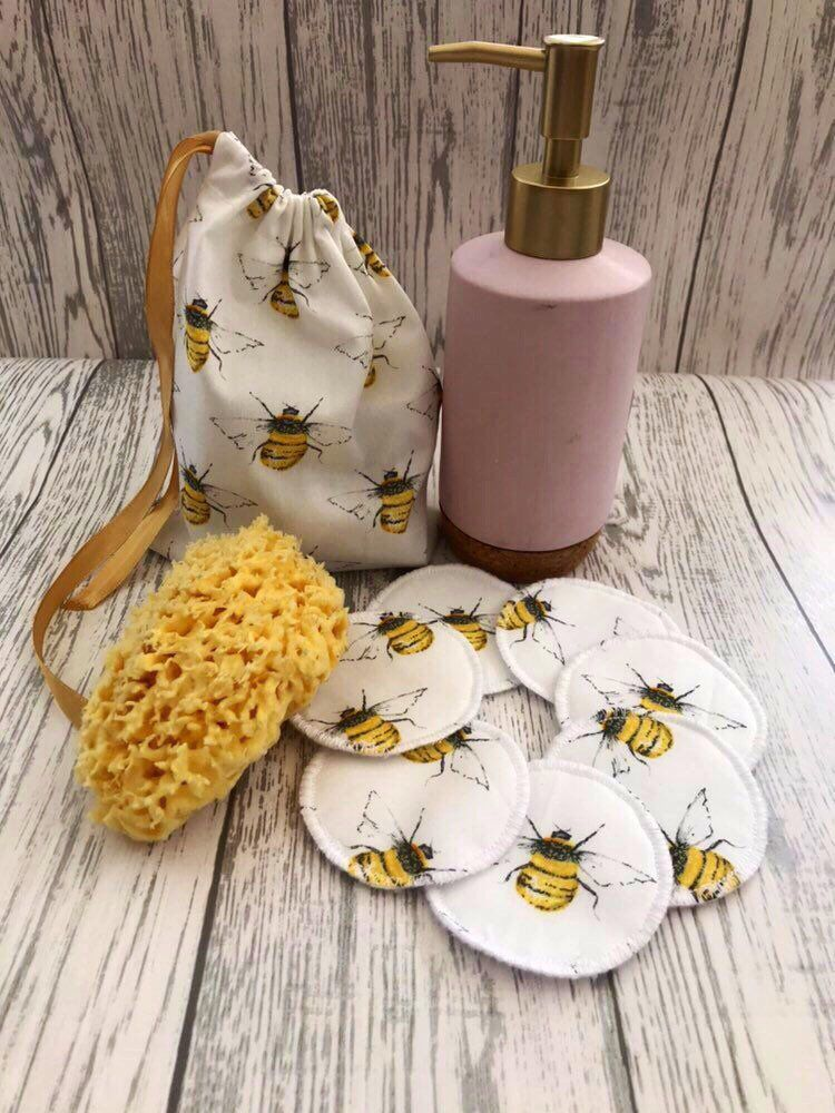 Reusable Face Pads With Wash Bag Cotton Rounds Face