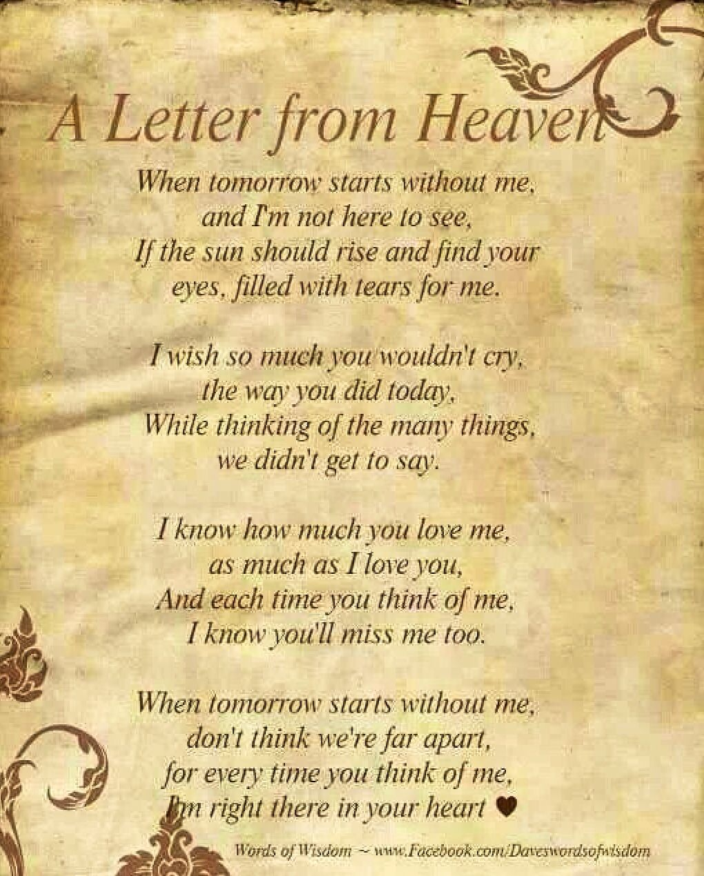 Letter From Heaven Until We Meet Again Letter From Heaven
