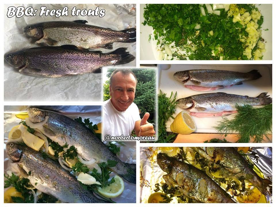 BBQ: fresh trouts