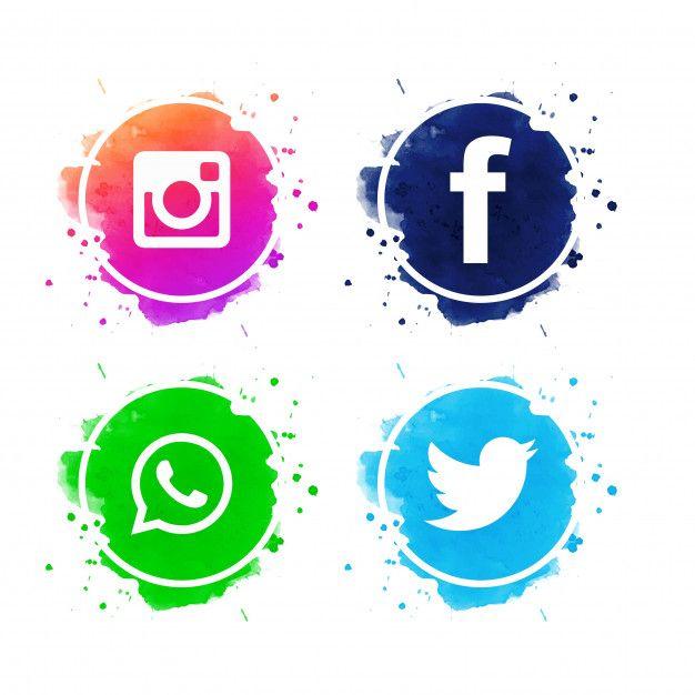 Beautiful Social Media Icons Set Vector Free Vector Free Vector Freepik Vector Freebackground Freel Social Media Icons Free Social Media Icons Media Icon