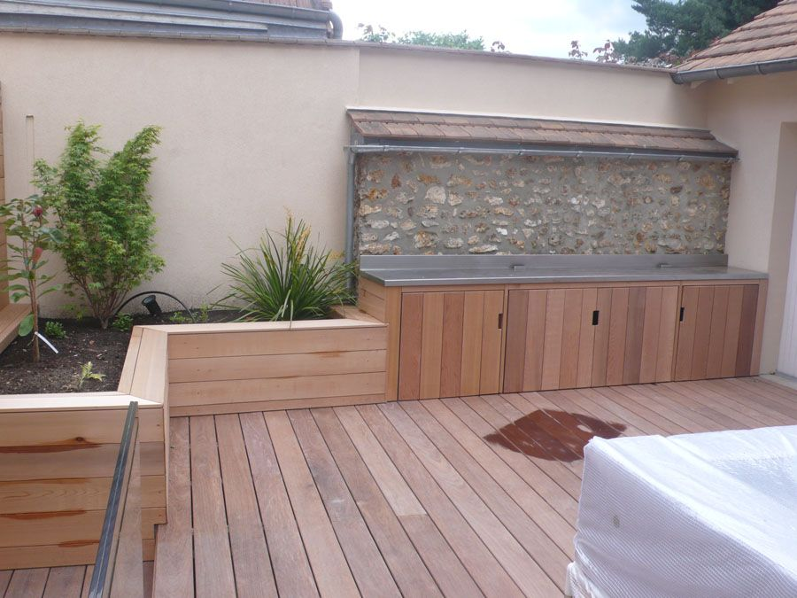 terrasse en ipe meubles en red cedar maison pinterest terrasse en ipe cuisine exterieur. Black Bedroom Furniture Sets. Home Design Ideas