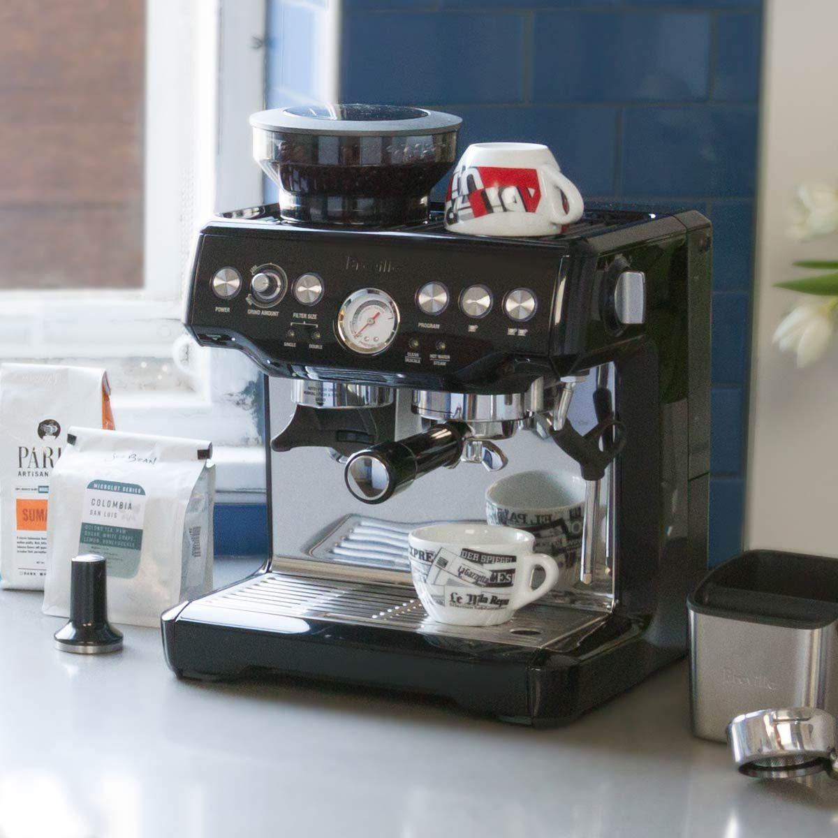 Breville Bes920xl Dual Boiler Espresso Machine In Black Espresso Machine Espresso Breville Barista Express