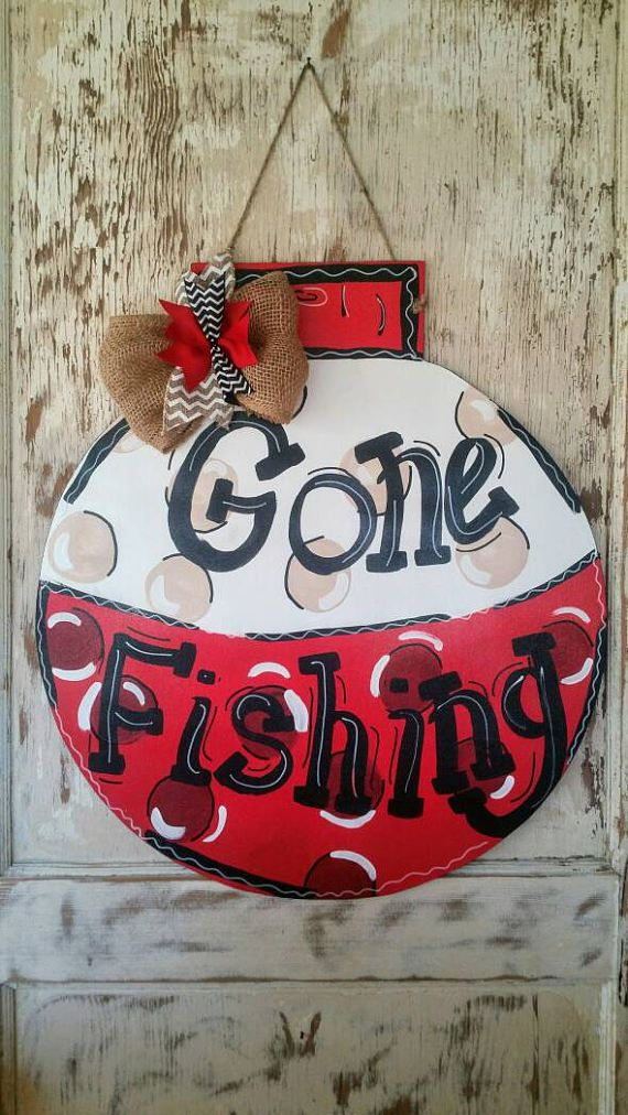 Gone Fishing Door Hanger Gone Fishing Sign Gone Fishing Gone Mesmerizing Gone Fishing Signs Decor