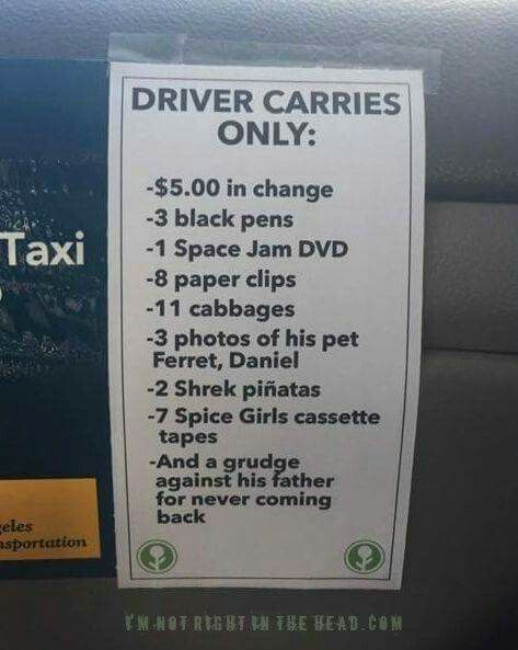 Taxi sign  | Signs, signs  Everywhere there's signs | Funny