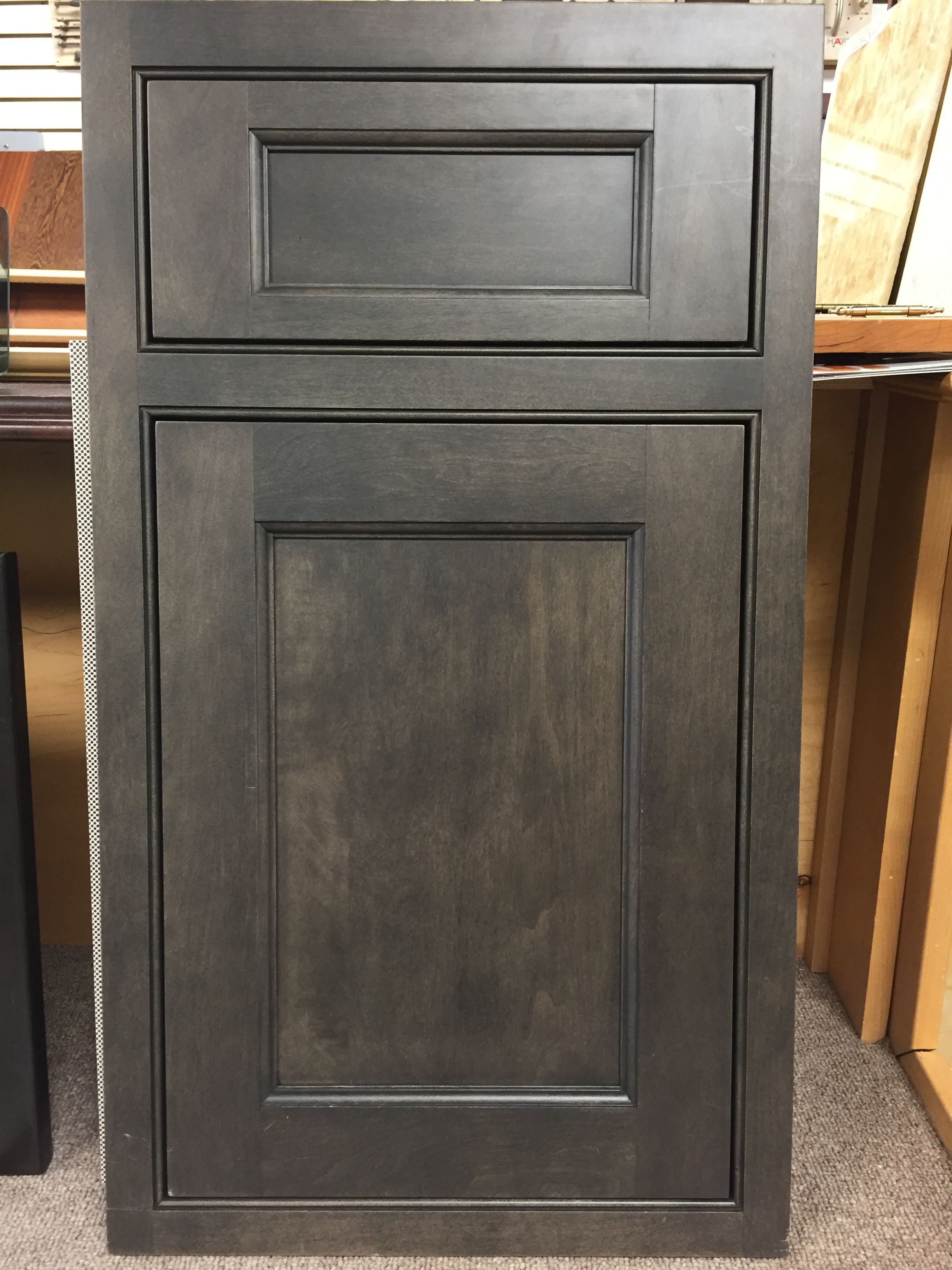 Island Door - French Villa Square - Slate on Maple