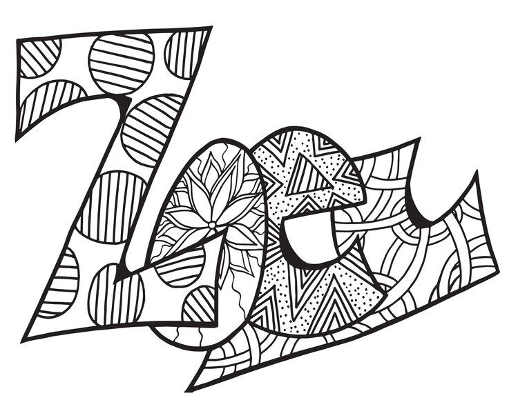 ZOEY Classic Stevie Doodle Printable Free Coloring Page