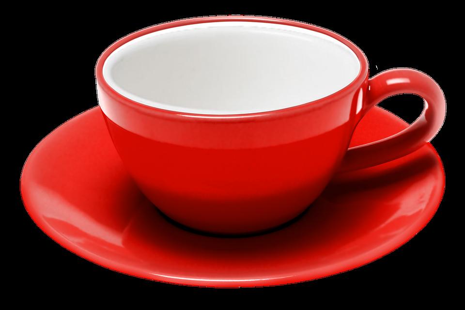 Chashka Blyudce Blyudo Kafe Kofe Red Tea Tea Cups Tea