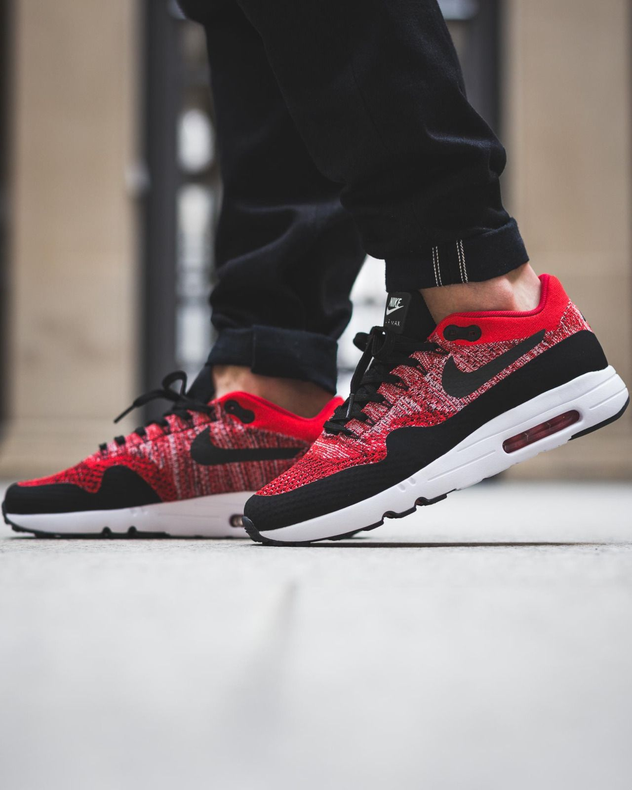 The shopping nike Air Max 90 Ultra 2.0 Flyknit REDBLACK