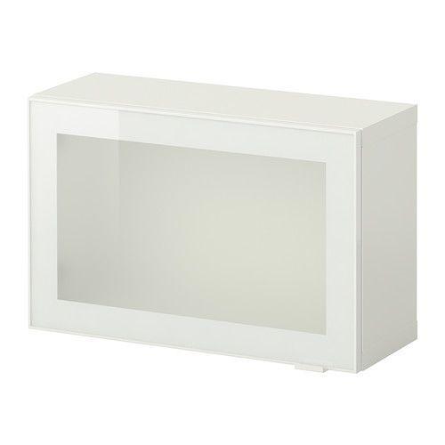 BESTÅ Witryna - biały\/Glassvik białe\/matowe szkło - IKEA Zakupy - k chenr ckwand glas motiv