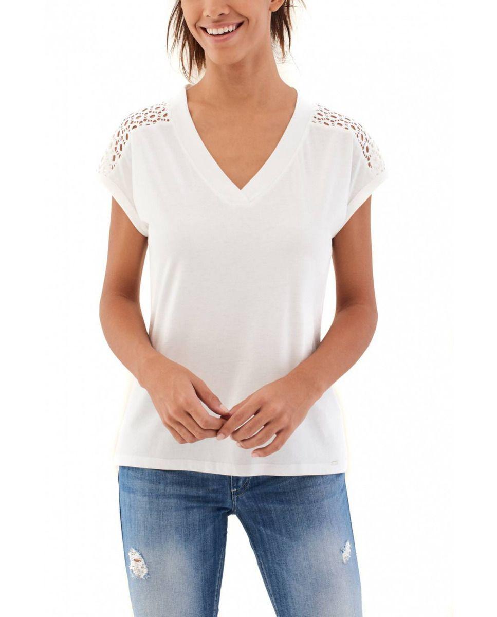 d460ba7a3 Camiseta de mujer Salsa de manga corta con espalda calada · Moda ...