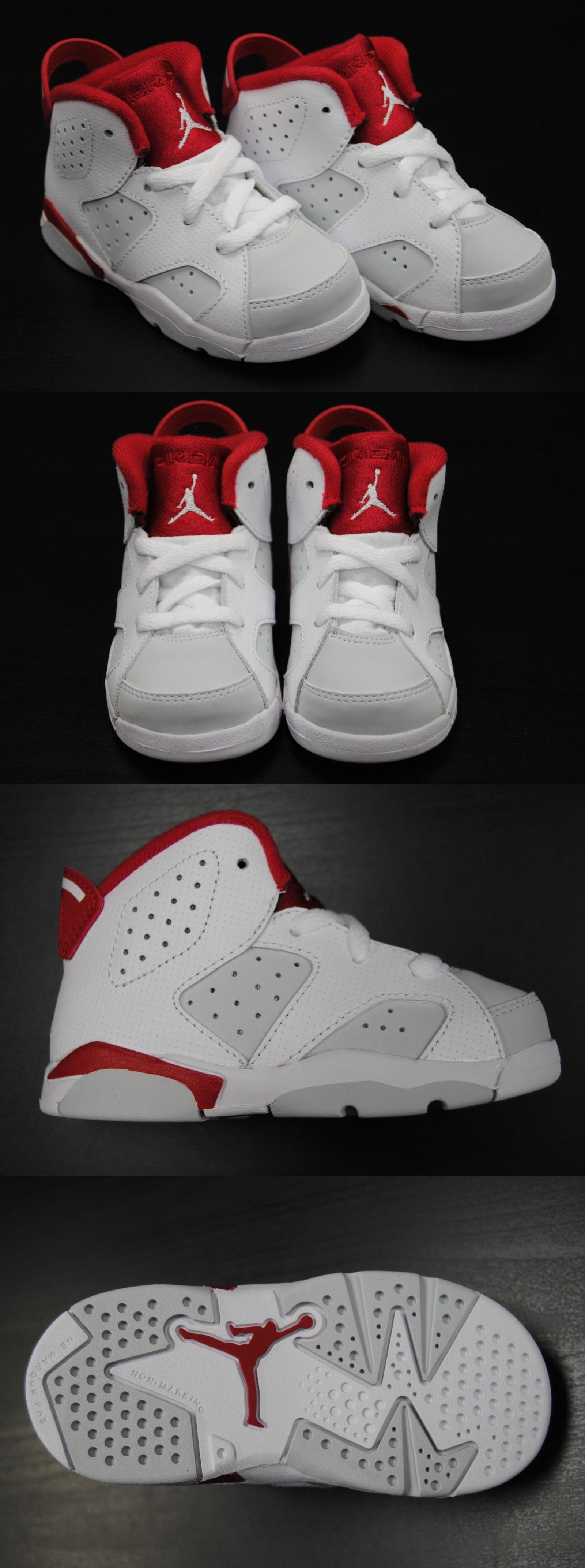 bc443ed593756a Baby Shoes 147285   384667 113  New Toddler Air Jordan 6 Retro Bt Alternate  Hare White Red Jb1265 -  BUY IT NOW ONLY   50 on eBay!