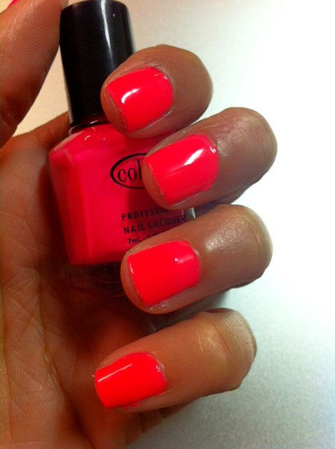 bright neon red nail polish mrg488cH | Beauty | Pinterest | Red nail ...