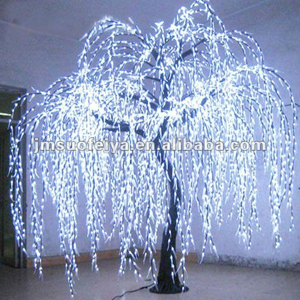 White Fake Tree Led Artificial Willow Light