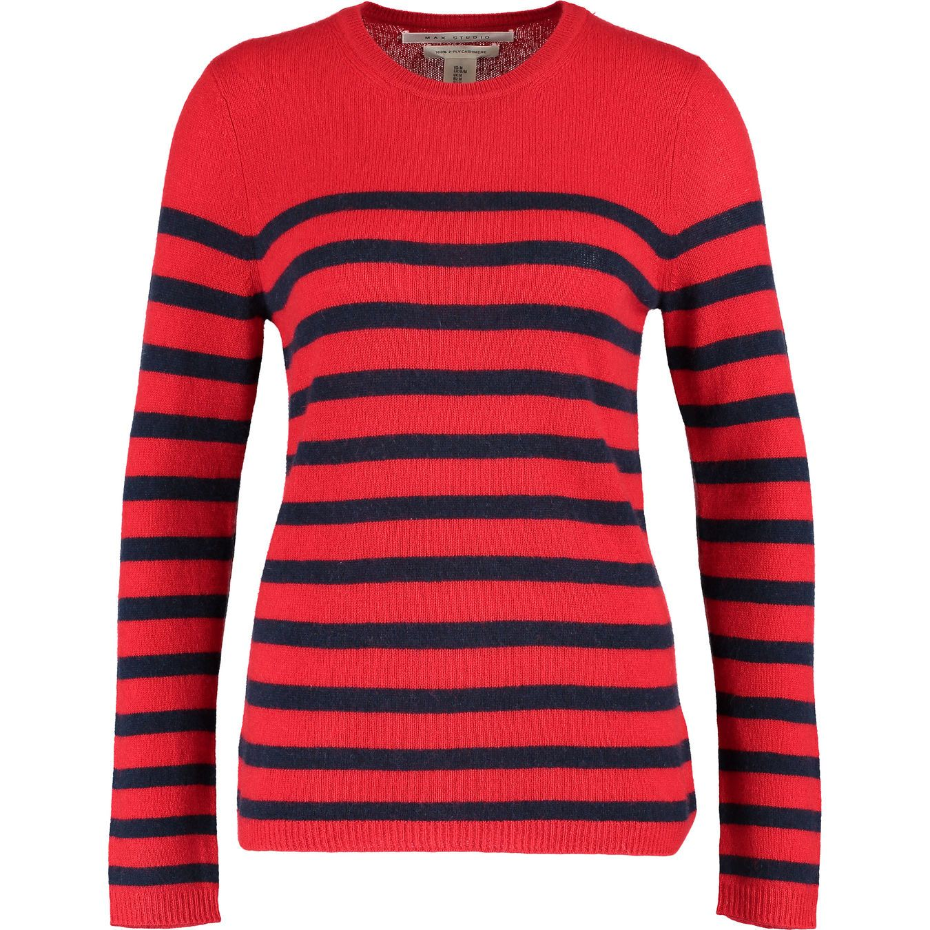 special promotion hot sale classic style of 2019 Red & Navy Striped Cashmere Jumper - Jumpers - Knitwear ...