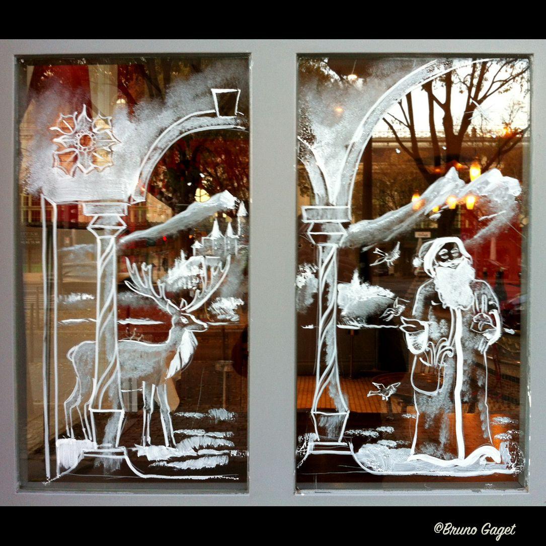 Artistic Christmas Scenes Reflected In The Windows Brunogaget Christmas Noel Saintnicolas Fa Fensterbilder Weihnachten Weihnacht Fenster Weihnachtsfenster