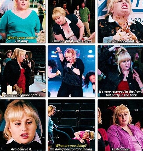 Hilarious Quotes From Pitch Perfect Fat Amy got thi...