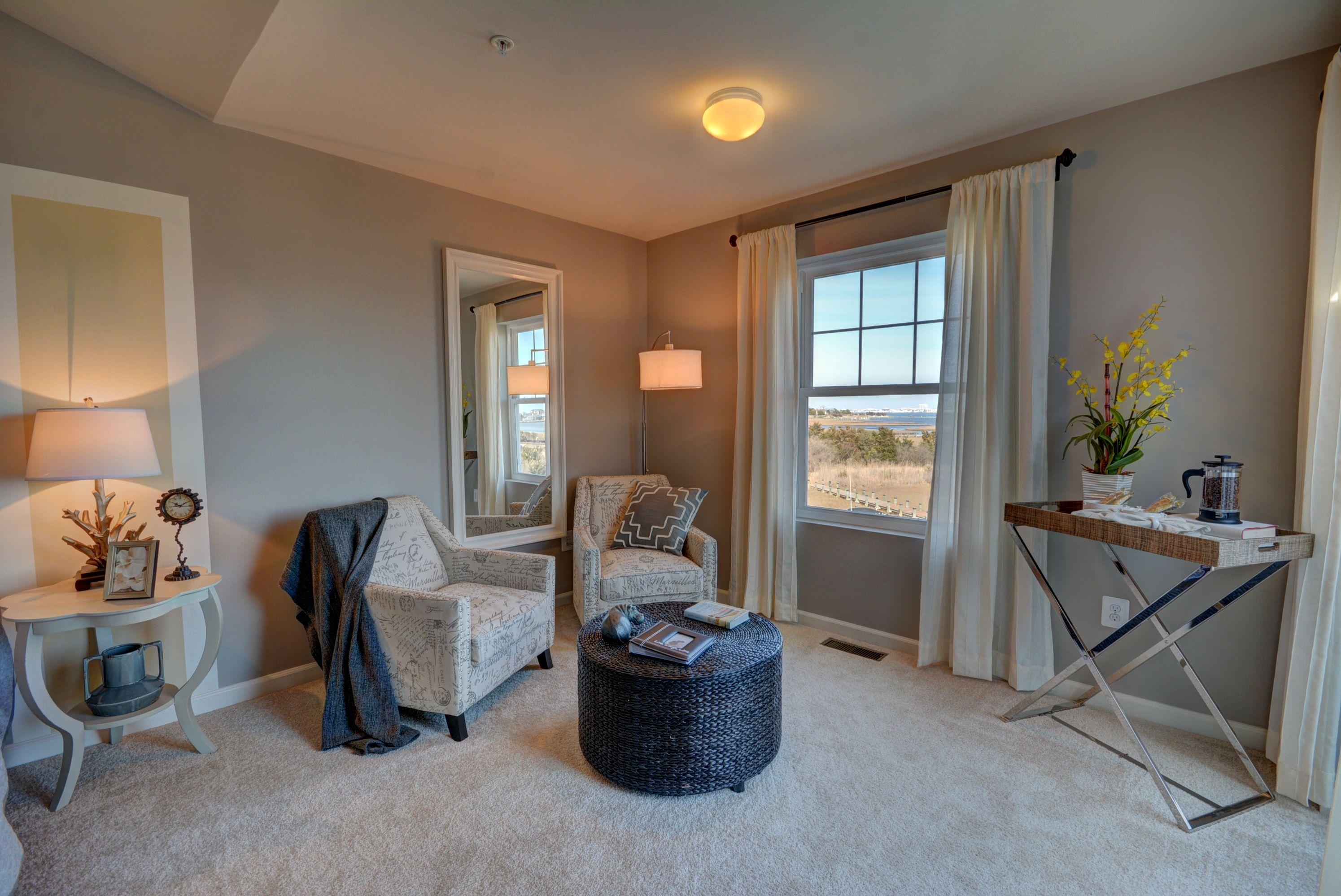 Sitting room in the master bedroom at Seaside Village