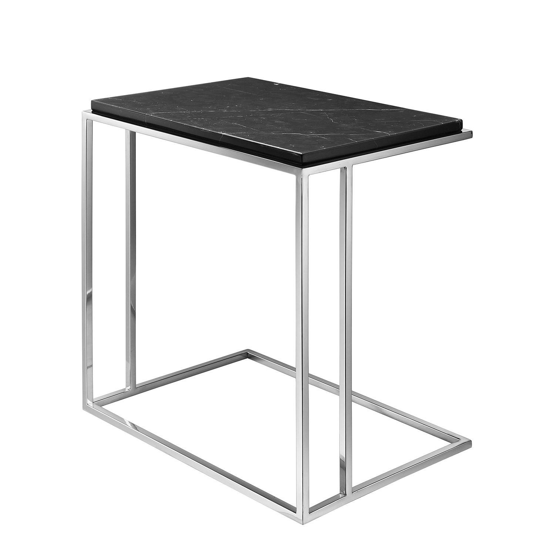 beistelltisch ben marmor edelstahl schwarz silber beistelltische pinterest. Black Bedroom Furniture Sets. Home Design Ideas