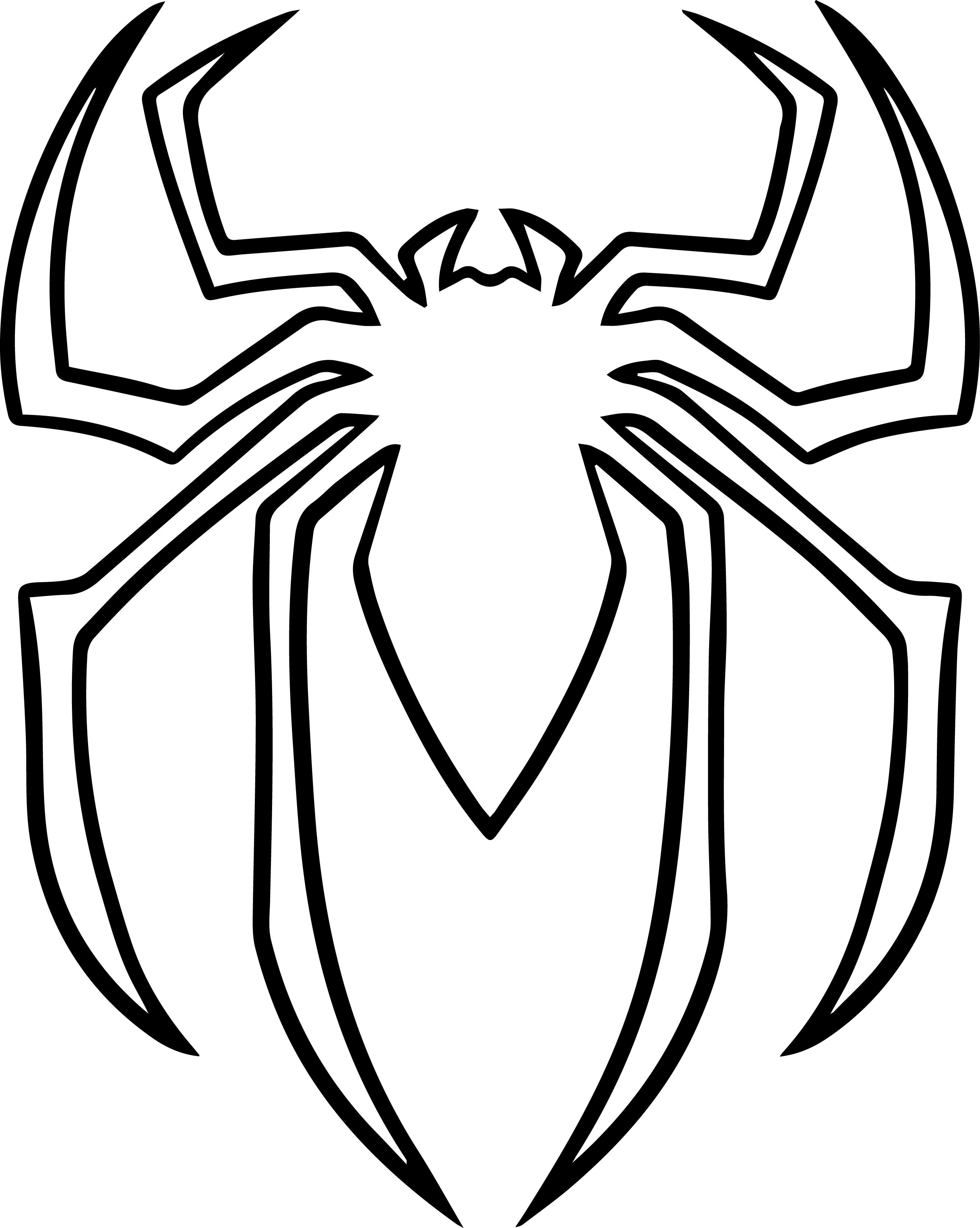 2615x3276 Spiderman Clipart Colouring Page Spiderman Pumpkin Spiderman Pumpkin Stencil Spiderman Coloring