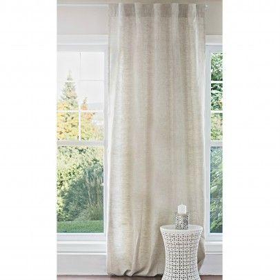 rideau en lin naturel p le home design curtains. Black Bedroom Furniture Sets. Home Design Ideas