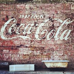 """Drink Coca-Cola"" ghost sign in Gonzales, Texas (mollyblock) Tags: vintage advertising square texas gonzales ad coke faded squaref..."