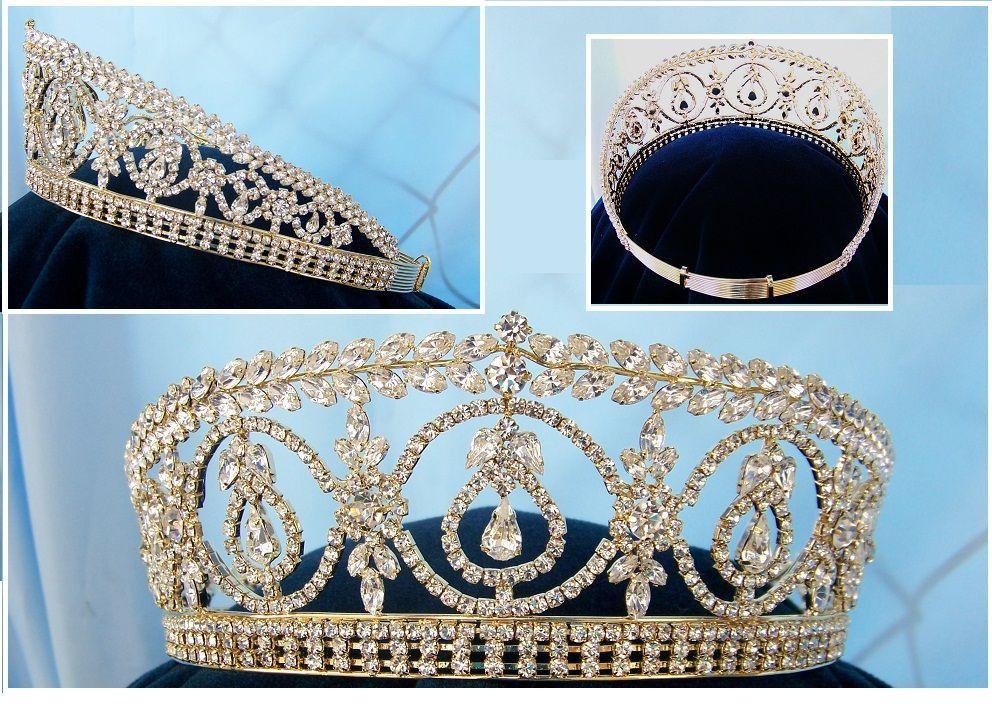 Dutchess Royal Gold Crown Tiara Windsor – CrownDesigners