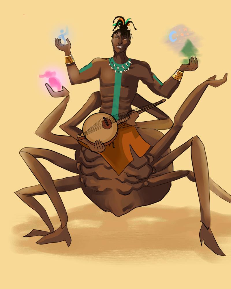 Anansi Spider God Of Tales by xAlalax deviantart com on