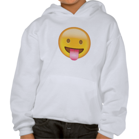 Face With Stuck Out Tongue Emoji Hooded Sweatshirt