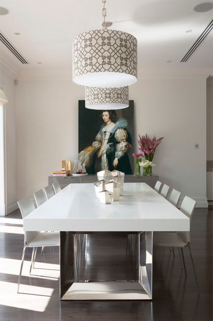 Contemporary Dining Room By Massimo Interiors Via Houzz What An Excellent Use Of An Anthony Van D Dining Room Cozy Rustic Dining Room Sets Rustic Dining Room