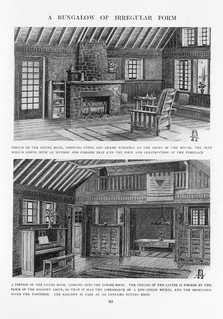 Craftsman Homes By Gustav Stickley 1909 A Bungalow Of