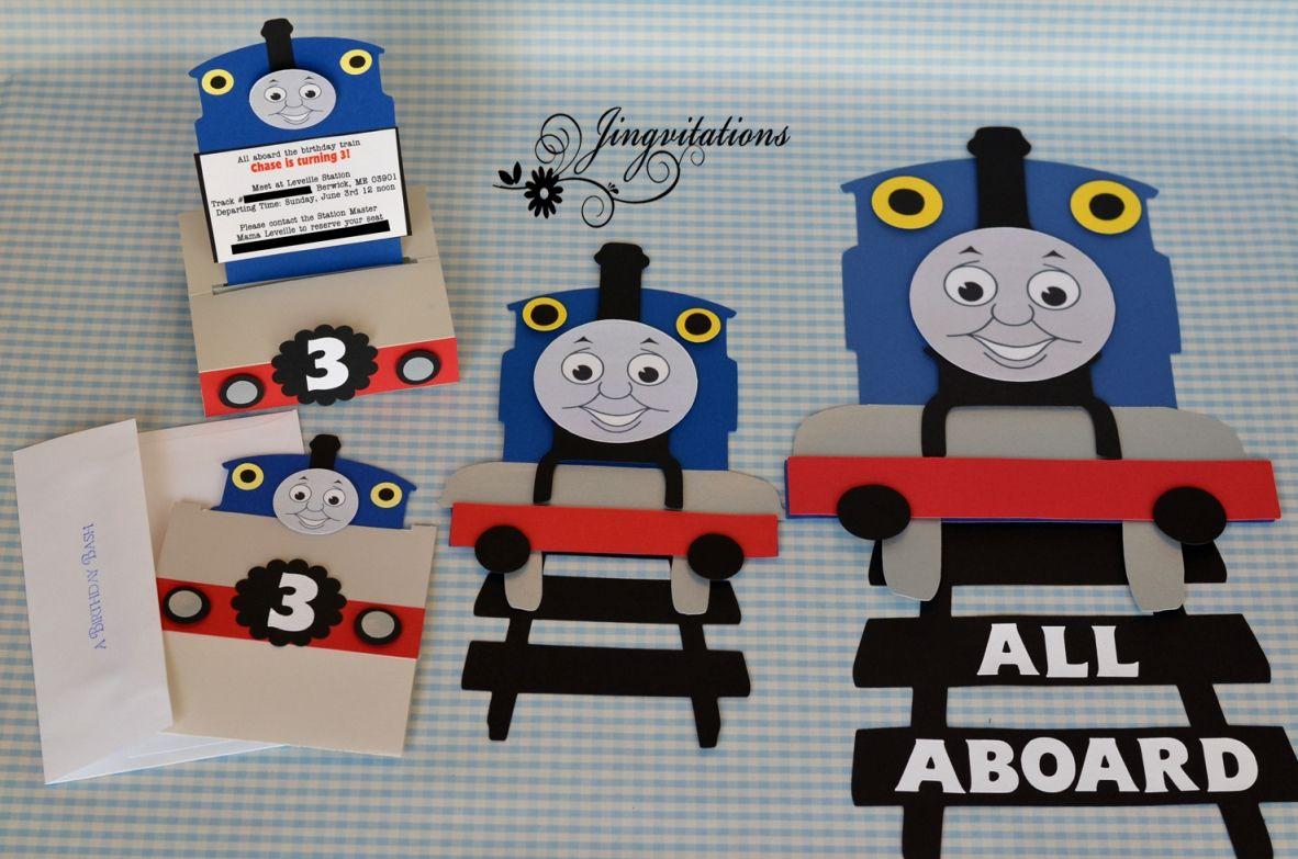 Thomas the Train Cricut Cartridge Jingvitations Thomas the Train