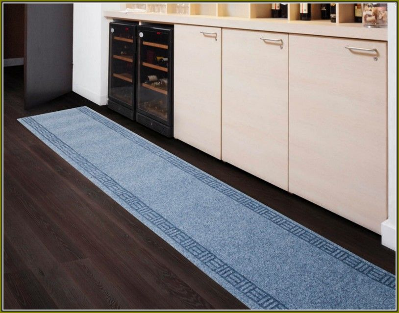 Kitchen Runner Washable Island Table With Stools Blue Narrow Rug Bestarearugs Best Area Rugs