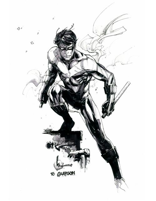 Nightwing by Kenneth Rocafort * | Comic Sketch Drawn | Pinterest ...